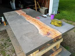 concrete and wood furniture. Picture Of Finishing The Concrete And Wood Furniture O