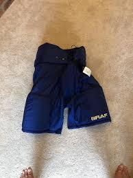 Graf 500 Hockey Pants S M Size 50 Blue