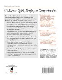 Buy Apa Style For Papers Presentations And Statistical Results