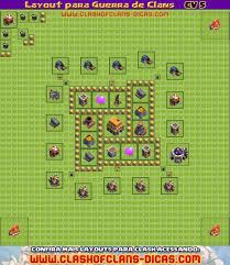 Layouts Para Guerra De Clans Cv 5 Clash Of Clans Dicas
