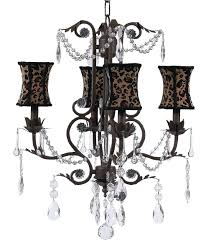 chic chocolate romantic chandelier with leopard shades