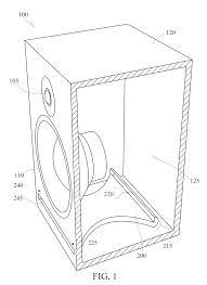 Us08391528 20130305 d00001 1986×2728 speaker port design pinterest speakers