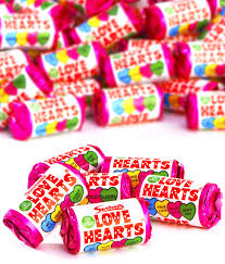 3kg 250 rolls party pack of love heart mini rolls