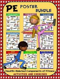 Pe Poster Bundle Health Components Of Fitness 9 Activity And Exercise Posters
