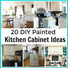 Diy painted kitchen cabinets ideas Hgtv Cultivated Nest 20 Diy Painted Kichen Cabinet Ideas