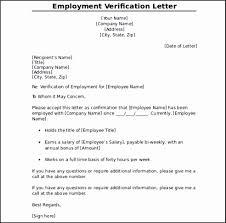 Employee Verification Letter Sse2o Luxury Employment Verification