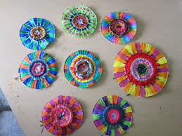 paper plate spiral weavings thinkcreateart