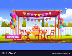 kids birthday party decoration on house