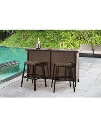 3 piece patio bar set. Modren Set Outdoor SunNest Sunjoy Tulsa Wicker 3 Piece Patio Bar Set And T