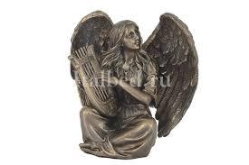 Купить <b>Статуэтка Ангел сидящий с</b> лирой по цене 1 793 руб. в ...