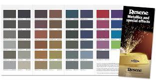 Resene Exterior Colour Chart Resene Metallics Together In New Colour Chart Eboss