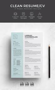 Modern Word Resume Template Template Forsume Clean Cover Letter Cv Word Modern