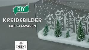 Diy Weihnachtsdeko Mit Trendigen Kreidebildern Auf Glasvasen How To Deko Kitchen