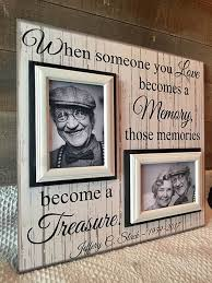 memorial photo frames with distressed wood sympathy e