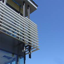 exterior louver. unicel architectural is a louver manufacturer, supplier, motorized louvers, exterior shading system f