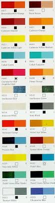Grumbacher Finest Acrylic Color Chart