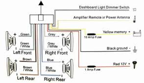 wiring a car stereo speaker schematic