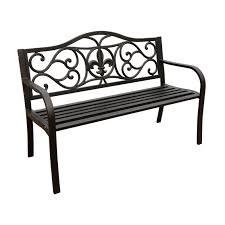 garden treasures 16 16 in w x 16 16 in l patio bench at