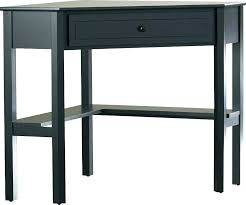 small writing desk with drawers black 1 drawer corner dr