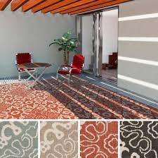 enchanting geometric fl outdoor rug design for patio