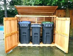trash can cabinet outdoor diy modern with shed kit ideas large wooden inside storage designs 1