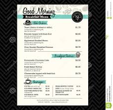 breakfast menu template restaurant breakfast menu design template layout stock vector
