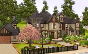 Mod Sims Alcester House Modern Mock Tudor House Plans 2411