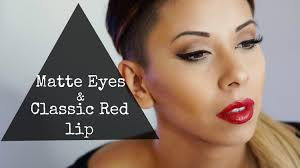 matte eyes clic red lip prom or night out makeup tutorial makeup by krystal be you