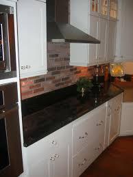 Red Brick Tiles Kitchen White Kitchen With Red Brick Backsplash Cliff Kitchen