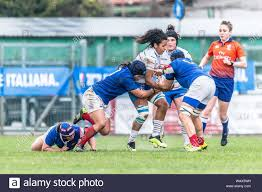 L´inarrestabile Giada Franco during ITALIA VS FRANCIA - SEI NAZIONI  FEMMINILE, Padova, Italy, 17 Mar 2019, Rugby Nazionale Italiana di Rugby  Stock Photo - Alamy