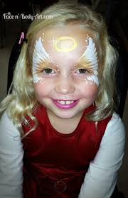 girl s angel wings mask face painting
