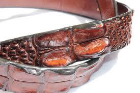 crocodile leather belt womens 3 cm wide