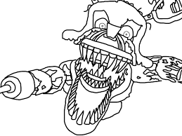 Five Nights At Freddy S Coloring Pages Foxy With Print Five Nights