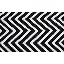 wildon home black white broken stripe rug in on black and white indoor