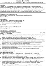 Family Nurse Practitioner Resume Free Resume Templates 2018