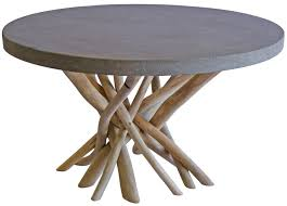 driftwood coffee table round concrete tables top copper farmhouse silver legs distressed furniture unusual wood accent stone