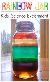 cool and fun projects to do at home. rainbow jar cool and fun projects to do at home