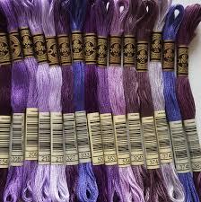 15 Dmc Threads Mixed Purple Shades Skeins