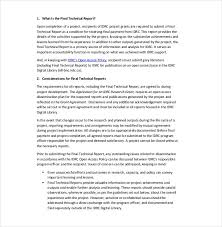 Engineering Technical Report Template Technical Report Writing Template Engineering Technical Report