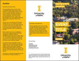 Trifold Brochures Brand Resource Center University Of Idaho