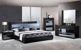 black modern bedroom sets. Wonderful Sets Image Is Loading MANHATTANKINGSIZEMODERNBLACKBEDROOMSET5PC With Black Modern Bedroom Sets I