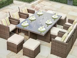 11 piece outdoor patio dining set direct wicker piece dining set with cushions oasis outdoor patio