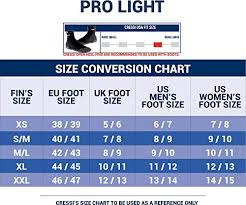 Cressi Pro Light Size Chart Cressi Pro Light Yellow S M Available In Bahrain