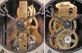 hermle skeleton wall clock movements