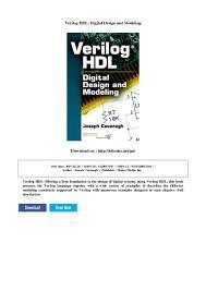 Digital Design Using Verilog Hdl Verilog Hdl Digital Design And Modeling