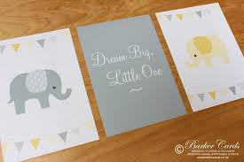 yellow elephant wall prints for baby s nursery kids or children s bedrooms