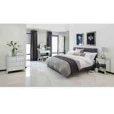 Mirrored Furniture In Bedroom Romano Crystal Mirrored Bedside Venetian Mirrored Furniture