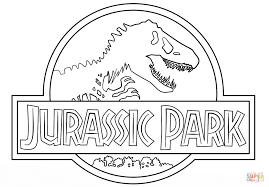 Small Picture Jurassic Park Logo coloring page Free Printable Coloring Pages