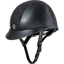 Riding Helmet Vg1 Ayr8 Plus Sparkly Leather Look Charles Owen