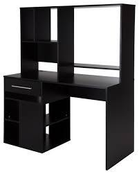 home office black desk. South Shore Annexe Home Office Computer Desk, Pure Black Home Office Black Desk